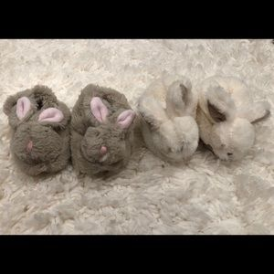 2 pairs of bunny super soft slippers
